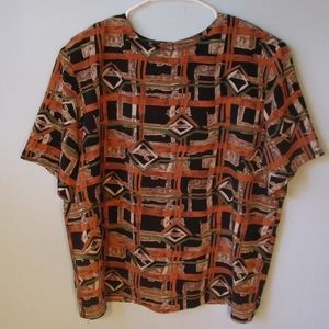 🔥3/$30 VTG 80s Tribal Print Blouse